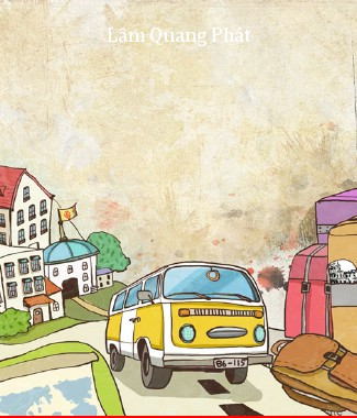 Hình ảnh Tranh dán tường thành phố s-208