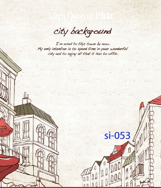 Hình ảnh Tranh dán tường thành phố si-053