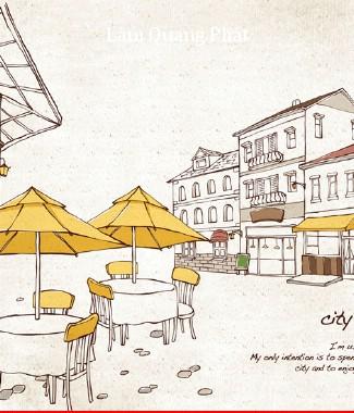 Hình ảnh Tranh dán tường thành phố si-055