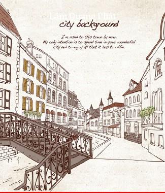 Hình ảnh Tranh dán tường thành phố si-060