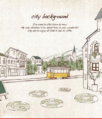 Hình ảnh Tranh dán tường thành phố si-062