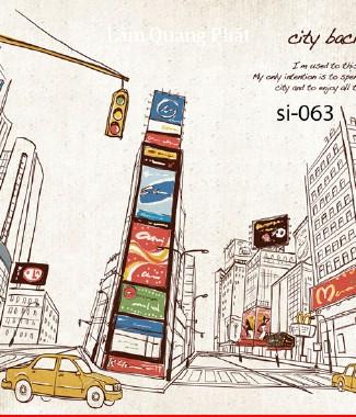 Hình ảnh Tranh dán tường thành phố si-063