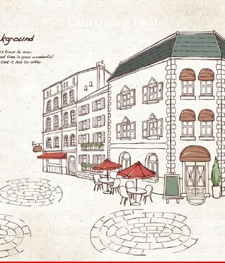 Hình ảnh Tranh dán tường thành phố si-064