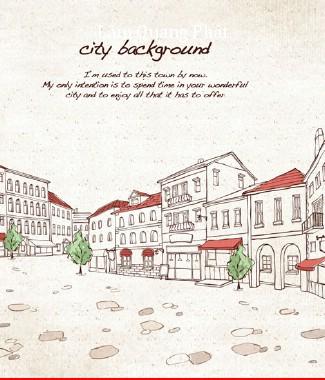 Hình ảnh Tranh dán tường thành phố si-065