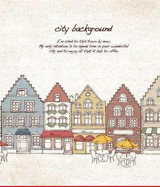 Hình ảnh Tranh dán tường thành phố si-067