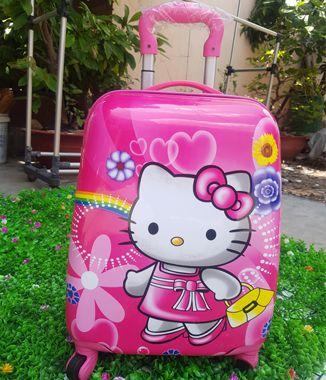 Vali Kéo Hello Kitty Màu Hồng đậm Cần Thơ Lâm Quang Phát