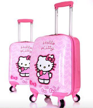 Hình ảnh Vali kéo Hello Kitty hồng phấn