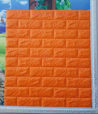Hình ảnh Xốp đá Hàn Quốc dán tường màu cam