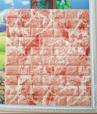 Hình ảnh Xốp đá Hàn Quốc dán tường vân đá đỏ