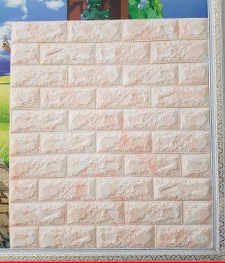Hình ảnh Tấm xốp dán tường Hàn Quốc vân đá hồng