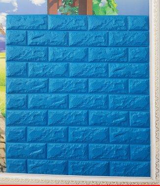 Hình ảnh Tấm xốp dán tường Hàn Quốc xanh dương