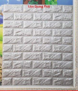 Hình ảnh Xốp đá Hàn Quốc dán tường màu bạc