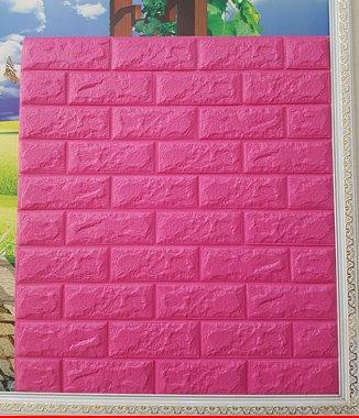 Hình ảnh Xốp đá Hàn Quốc dán tường màu hồng