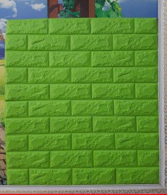 Hình ảnh Tấm xốp dán tường Hàn Quốc xanh lá