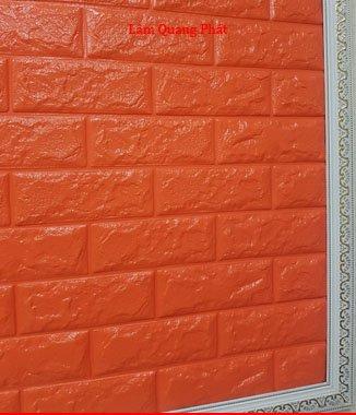 Hình ảnh Tấm xốp giả đá 3D màu cam