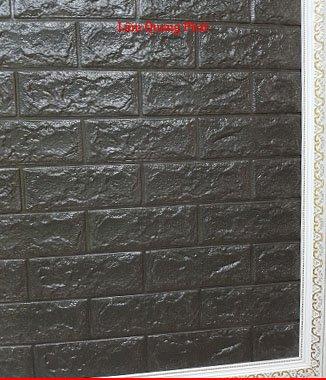 Hình ảnh Tấm xốp giả đá 3D màu đen