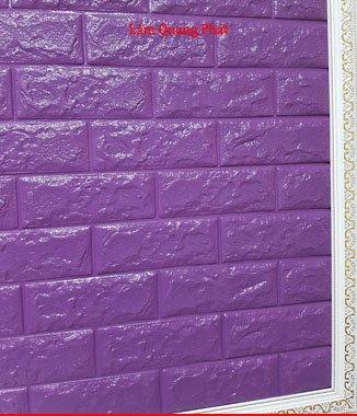 Hình ảnh Tấm xốp giả đá 3D màu tím