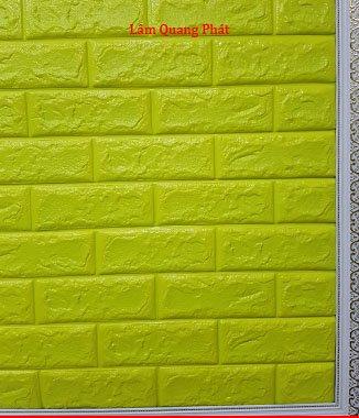 Hình ảnh Tấm xốp giả đá 3D màu vàng chanh