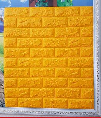 Hình ảnh Xốp đá Hàn Quốc dán tường màu vàng
