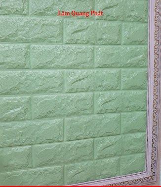 Hình ảnh Tấm xốp giả đá 3D màu xanh ngọc