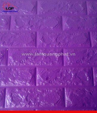 Hình ảnh Xốp đá dán tường 3D màu tím