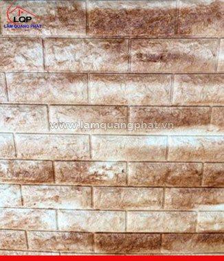 Hình ảnh Xốp đá dán tường 3D màu nâu trắng