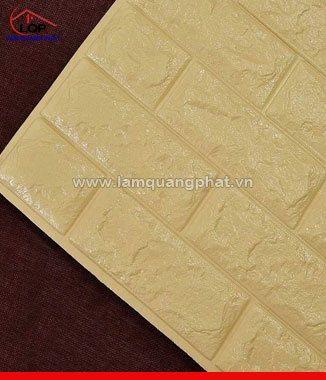 Hình ảnh Xốp đá dán tường 3D màu vàng đồng