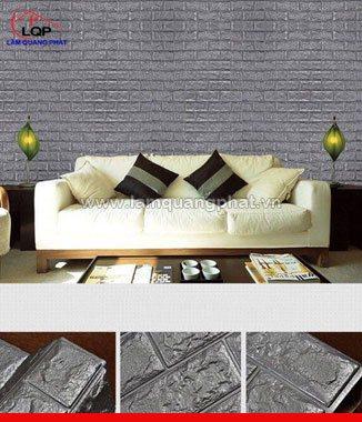 Hình ảnh Xốp đá dán tường 3D màu xám