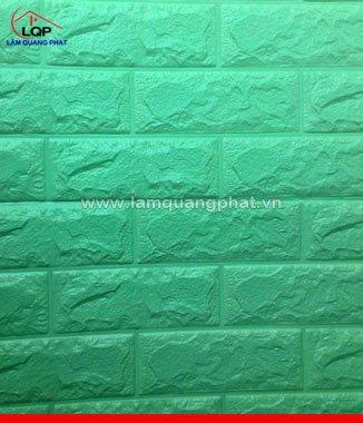 Hình ảnh Xốp đá dán tường 3D màu xanh cốm