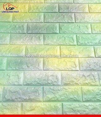 Hình ảnh Xốp đá dán tường 3D màu xanh vàng